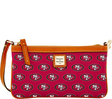 Dooney & Bourke NFL 49ers Large Slim Wristlet