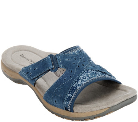 Earth Origins Suede Slide Sandals - Sander