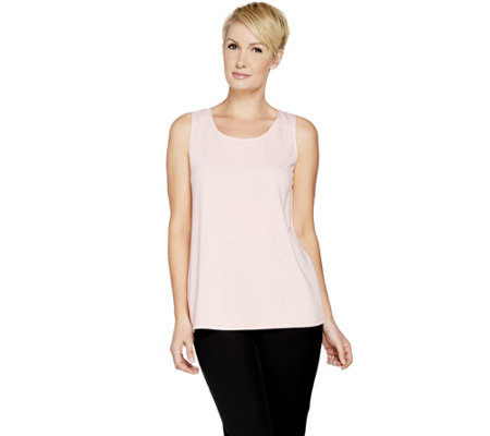 Dennis Basso Essentials Knit Scoop Neck Tank