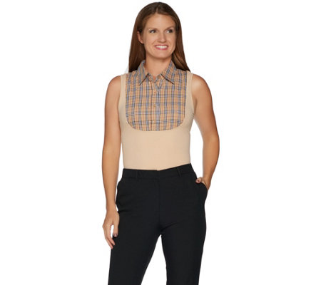 Kathleen Kirkwood Dictrac-Ease Wide Point Collar Camisole