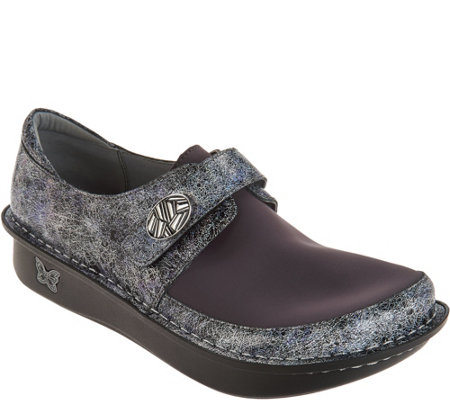 Alegria Dream Fit Leather and Neoprene Slip-ons - Dena