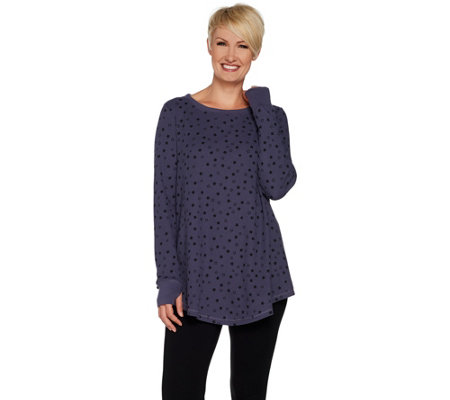 62b0c8ad8ff AnyBody Loungewear Cozy Knit Waffle Swing Top - Page 1 — QVC.com