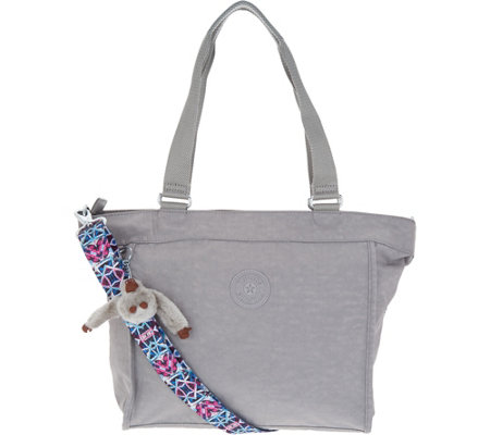 Kipling Nylon Shopper with Printed Strap