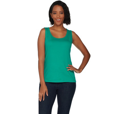 Isaac Mizrahi Live! Essentials Scoop Neck Tank