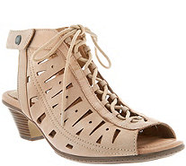Earth Nubuck Leather Lace-Up Sandals - Kristen - A304187