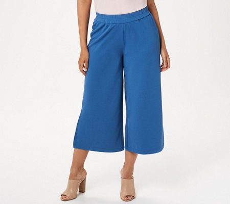 Joan Rivers Regular Length Textured Knit Pull-on Gaucho Pants