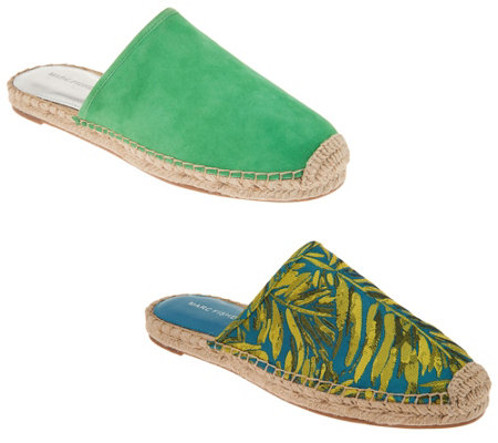 Marc Fisher Suede or Printed Espadrille Mules - Gift
