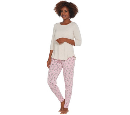 Cuddl Duds Softwear Stretch Novelty Jogger Pajama Set