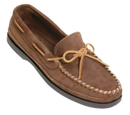 Minnetonka Men's Double-Bottom Hardsole Moccasins