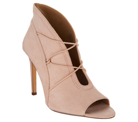 """As Is"" G.I.L.I. Peep Toe Bungee Front Booties- Kaarina"