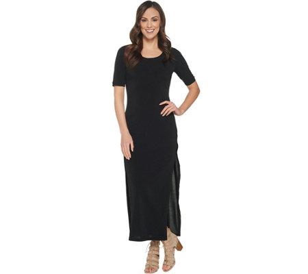 As Is G I L I Regular Short Sleeve Side Slit Maxi Dress