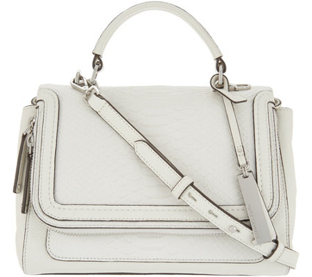 "As Is"" Vince Camuto Leather Satchel Handbag - Brud"