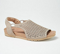 Earth Leather Perforated Sandals - Linden Laveen - A349687