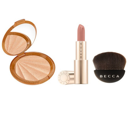 BECCA Collector's Edition C-Pop, Brush, Lipstick