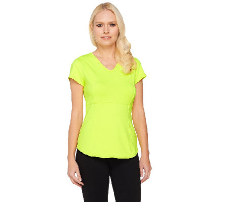 Women With Control Active Tummy Control V-neck Top