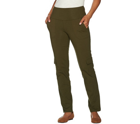 Women with Control Petite Tummy Control Cargo Pants