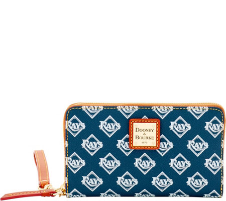 Dooney & Bourke MLB Rays Zip Around Phone Wristlet