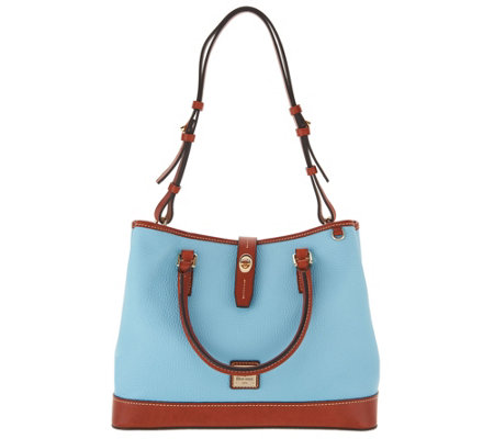Dooney & Bourke Pebble Leather Perry Satchel