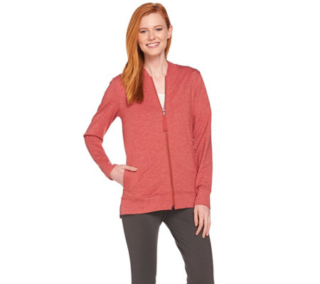 LOGO Lounge by Lori Goldstein Zip Front Hi-Low Jacket