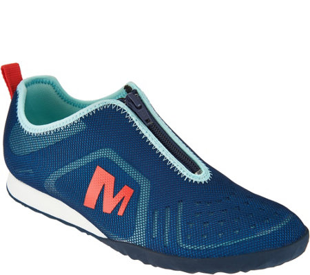 Merrell Mesh Zip-Up Slip-on Sneakers - Civet Zip