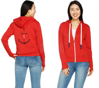 Peace Love World Zip Front Affirmation Hoodie A