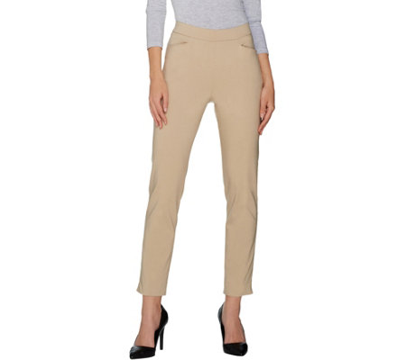 Susan Graver Petite Ultra Stretch Pull-On Ankle Pants