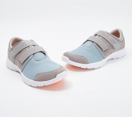 Vionic Suede & Mesh Adjustable Sneakers - Ema