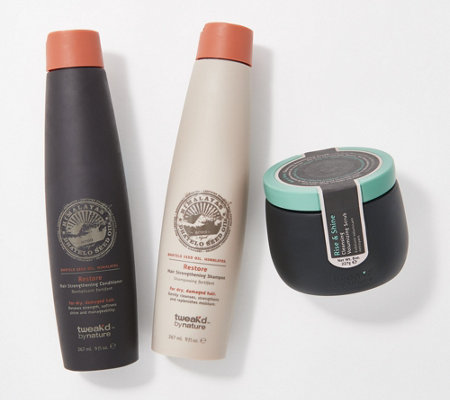 Tweak'd by Nature Rise & Shine Volumizing Scrub 3-Pc Kit