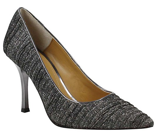 J. Renee Embellished-Heel Pointed-Toe Pumps - Ginesia