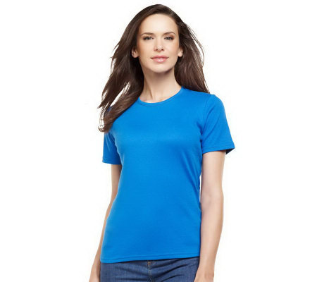 Liz Claiborne New York Essentials Short Sleeve Crew Neck Tee