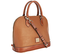 Dooney & Bourke Pebble Leather Zip Zip Satchel - A252389