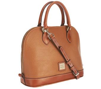 Dooney Bourke Pebble Leather Zip Satchel A252389