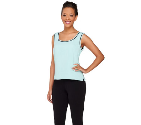 Styled by Joe Zee Sleeveless Tank with Contrast Trim