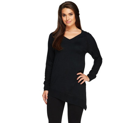 """As Is"" Lisa Rinna Collection Asymmetrical Sweater"