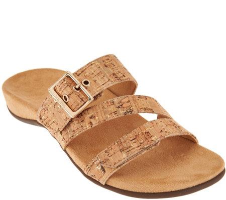 6563fab95beb9 Vionic Adjustable Slide Sandals - Skylar — QVC.com