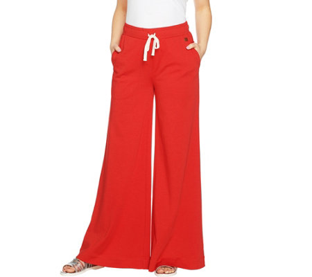 Peace Love World Wide-Leg Knit Pull-On Pants