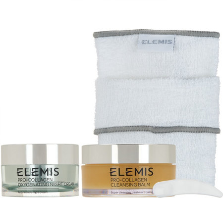 Elemis Pro-Collagen Oxygenating Night Cream & Cleansing Balm