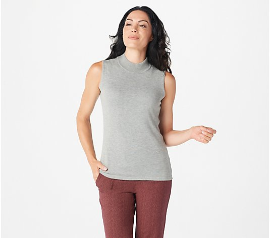 Joan Rivers Wardrobe Builders Mock Turtleneck Tank