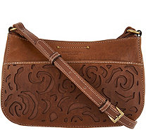 afaee32d8041e Tignanello Vintage Leather Floral Cut-out Crossbody- Florence - A304489