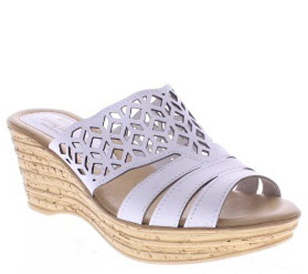 Spring Step Nubuck Wedge Sandals - Vino