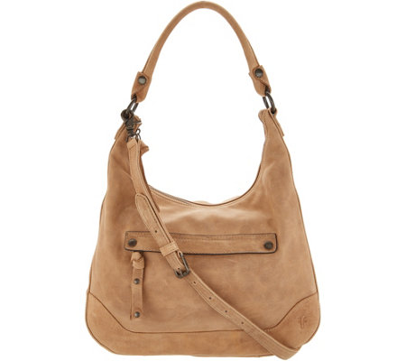 Frye Leather Melissa Zip Hobo Handbag