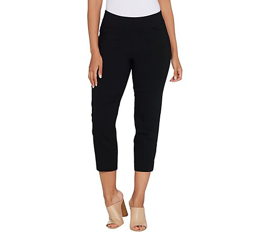 """As Is"" Susan Graver Petite Uptown Stretch Pull-On Crop Pants"