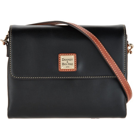 """As Is"" Dooney & Bourke Leather Crossbody- Hunter"