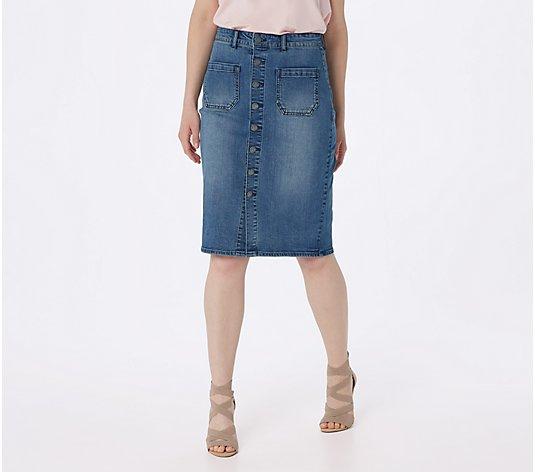 Haute Hippie Tribe 'Darcy' Denim Skirt