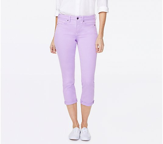 NYDJ Chloe Cuffed Capri in Colored Denim - Lilac Breeze