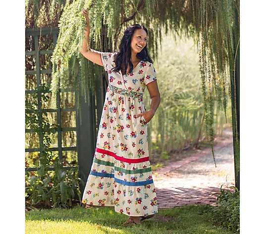 April Cornell Praire Floral Long Dress