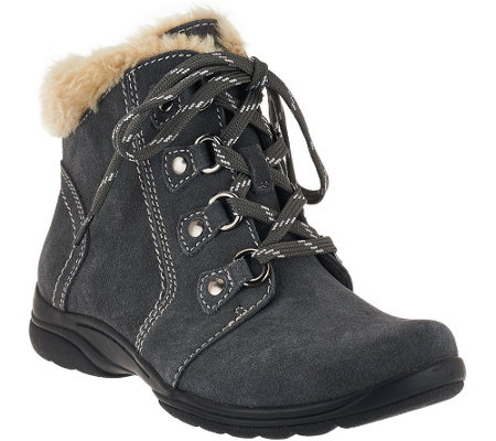 Earth Origins Suede Water Repellent Ankle Boots - Crowley
