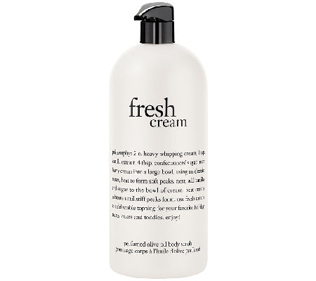 philosophy super-size 32oz fresh cream olive oil scrub
