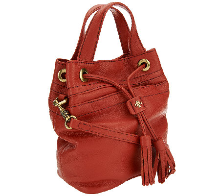"""As Is"" orYANY Italian Grain Leather Crossbody - Jeanne"