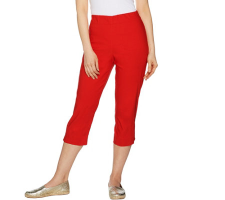 Susan Graver Sloan Stretch Pull-On Capri Pants
